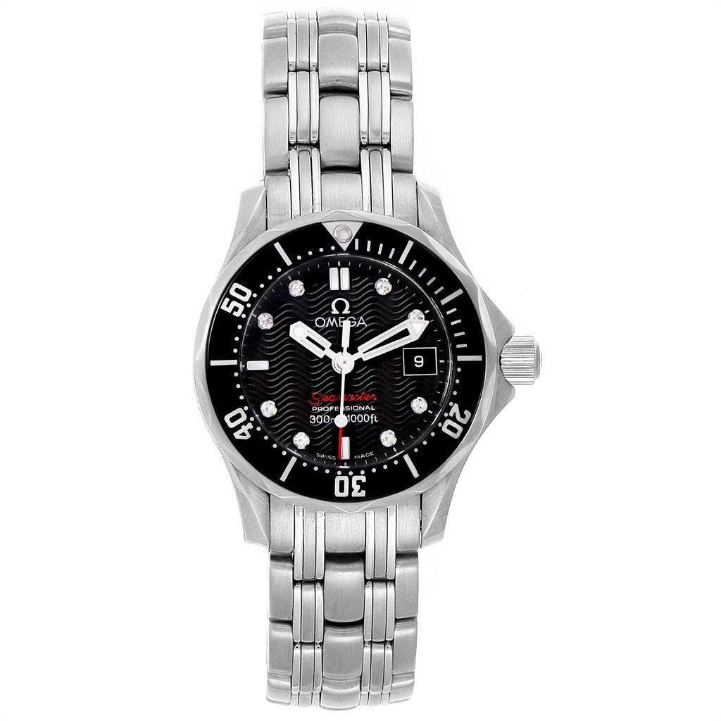Omega Seamaster Black Dial Diamond Ladies Watch 212.30.28.61.51.001 SwissWatchExpo