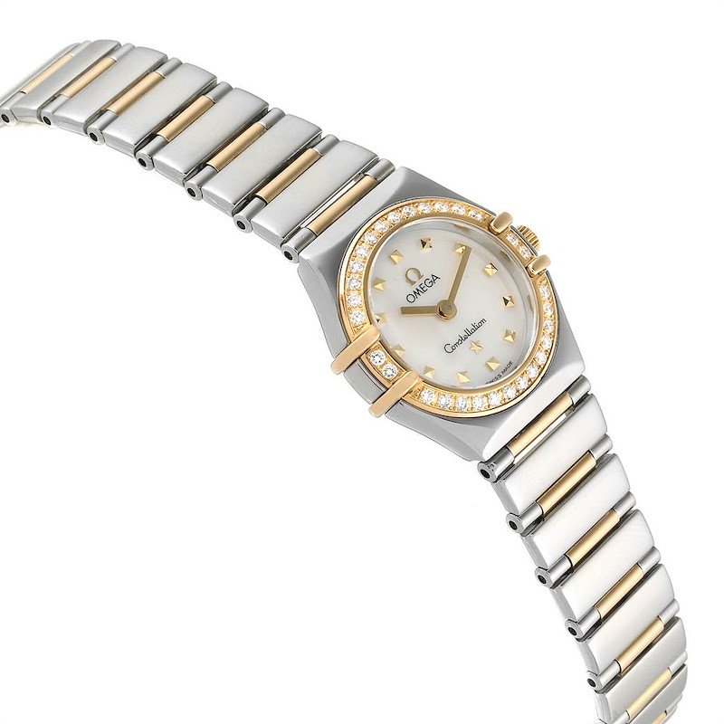 Ladies Omega Constellation Steel Yellow Gold Diamond Mini 1365.71.00 SwissWatchExpo