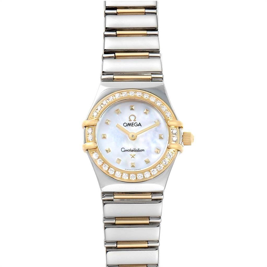 Photo of Ladies Omega Constellation Steel Yellow Gold Diamond Mini 1365.71.00