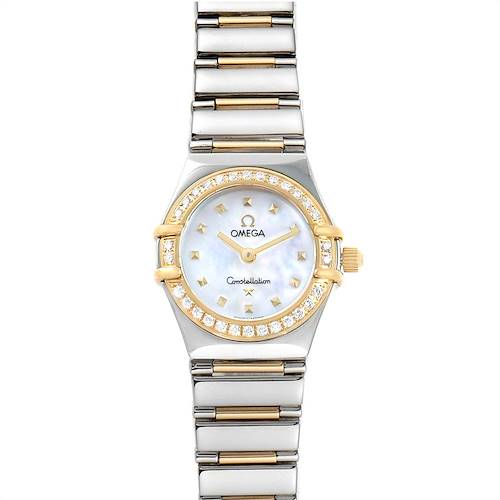 Photo of Ladies Omega Constellation Steel Yellow Gold Diamond Mini 1365.71.00
