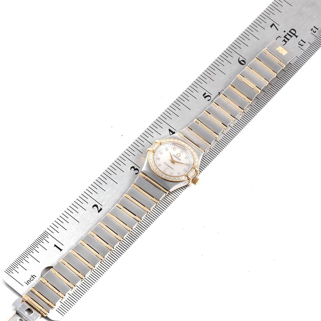 12468 Omega Constellation MOP Diamond Ladies Watch 1267.75.00 Box Card SwissWatchExpo