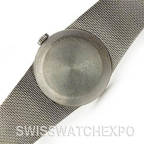 2549 Omega Vintage Ladies 14k White Gold Diamond Watch SwissWatchExpo