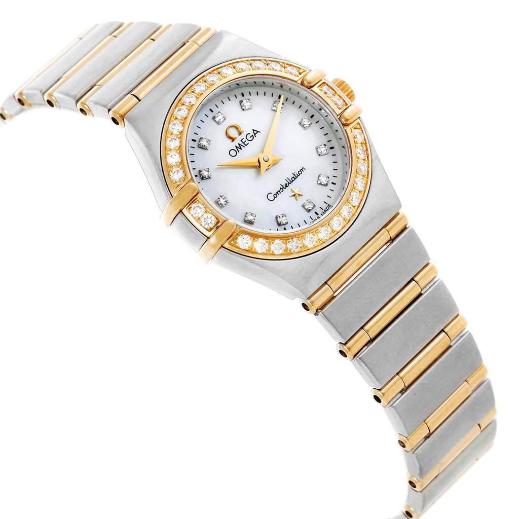 23615 Omega Constellation Steel Yellow Gold MOP Diamond Ladies Watch 1267.75.00 SwissWatchExpo