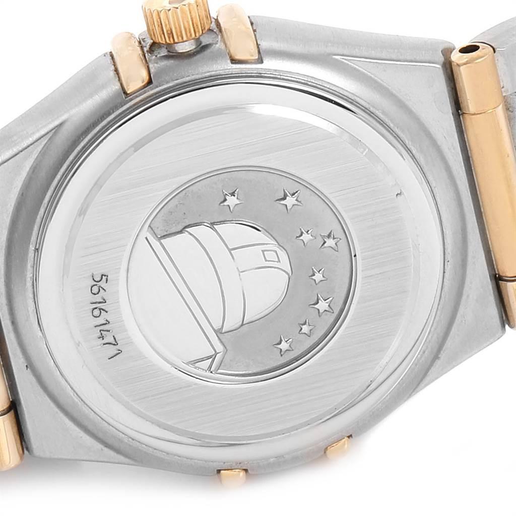 Omega Constellation Steel Yellow Gold MOP Diamond Ladies Watch 1267.75.00 SwissWatchExpo