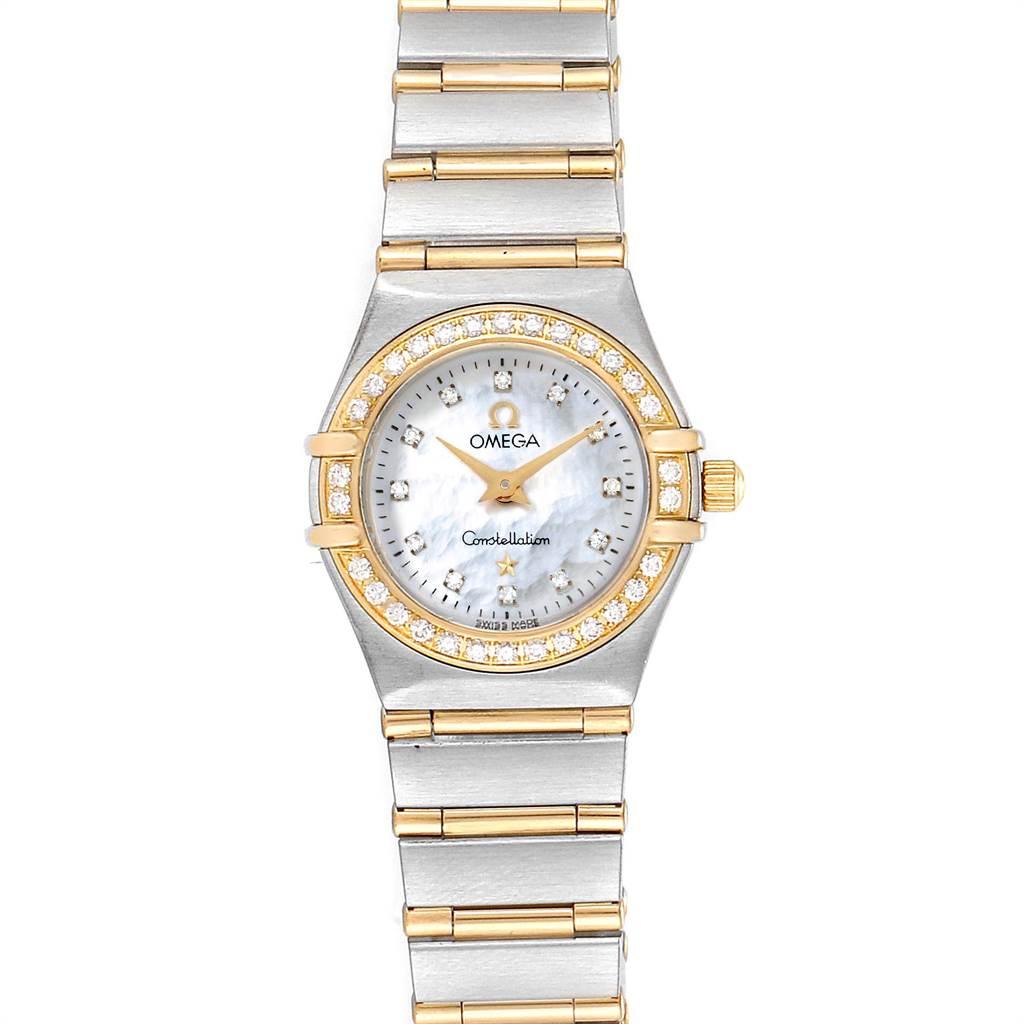 Photo of Omega Constellation Steel Yellow Gold MOP Diamond Ladies Watch 1267.75.00