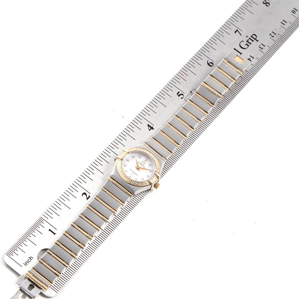 Omega Constellation 22 Mother of Pearl Diamond Ladies Watch 1267.75.00 SwissWatchExpo