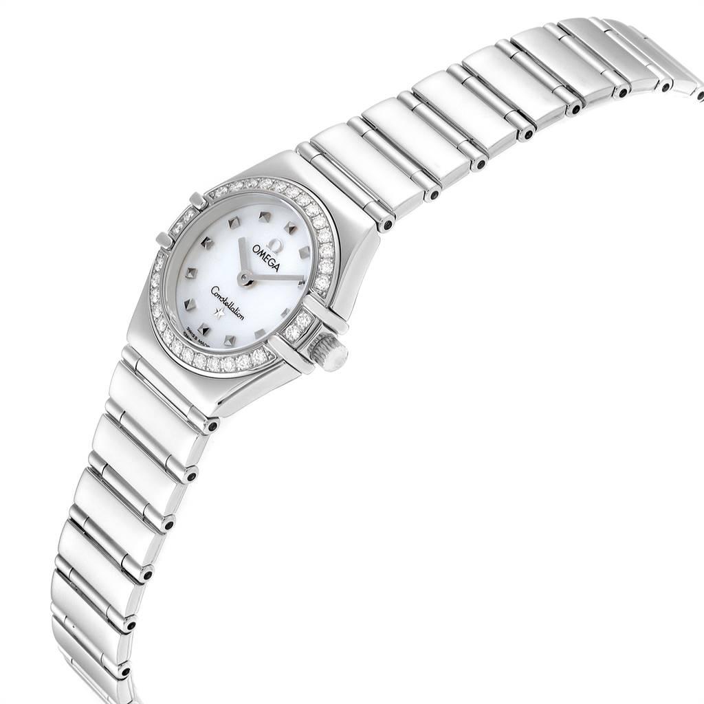 5647X Omega Constellation My Choice Mini Diamond Steel Watch 1465.71.00 SwissWatchExpo