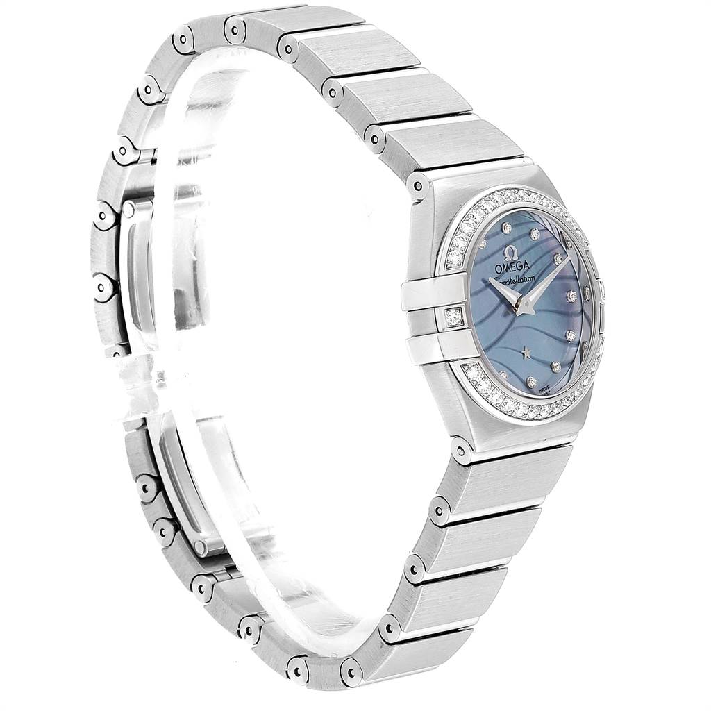 Omega Constellation Quartz 24 MOP Diamond Watch 123.15.24.60.57.001 SwissWatchExpo