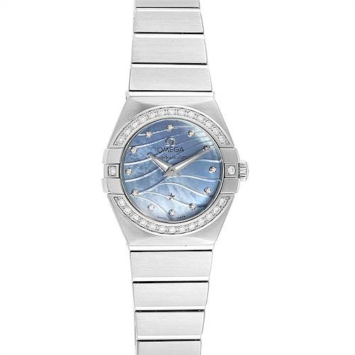 Photo of Omega Constellation Quartz 24 MOP Diamond Watch 123.15.24.60.57.001