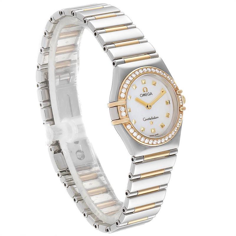 Omega Constellation My Choice Steel Yellow Gold Diamond Watch 1376.71.00 SwissWatchExpo