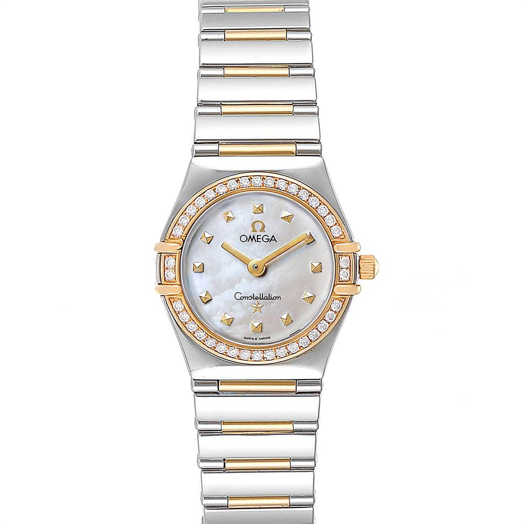 Omega Constellation My Choice Steel Yellow Gold Diamond Watch 1376.71.00 SwissWatchExpo