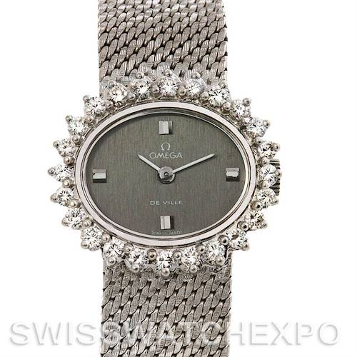 Photo of Omega  Deville Vintage Ladies 18k W Gold Diamond Watch