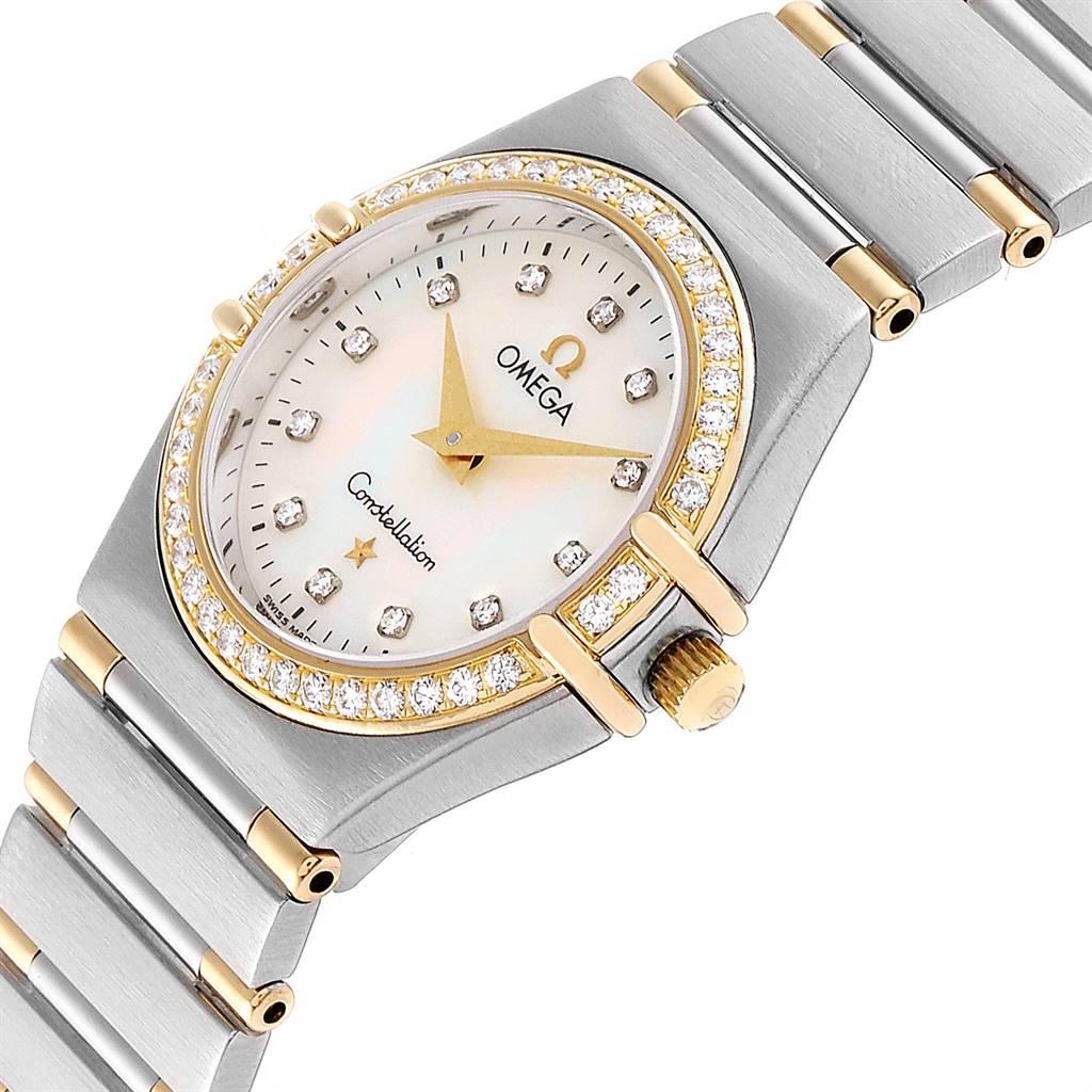 Omega Constellation My Choice Steel Yellow Gold Diamond Watch 1377.75.00 SwissWatchExpo