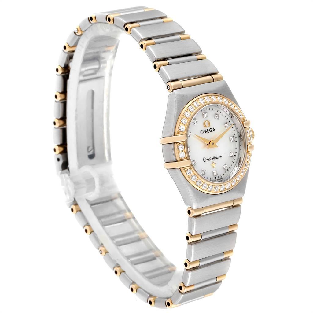 Omega Constellation MOP Diamond Ladies Watch 1267.75.00 Box Card SwissWatchExpo