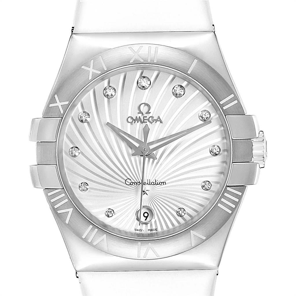 Omega Constellation Diamond Ladies Watch 123.12.35.60.52.001 Box Card SwissWatchExpo