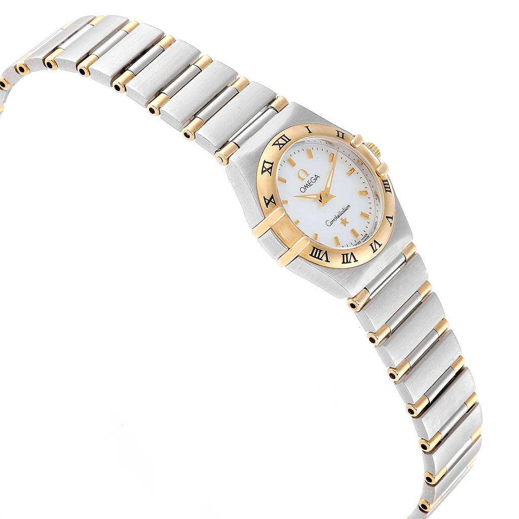Omega Constellation Steel Yellow Gold Mother of Pearl Ladies Watch SwissWatchExpo