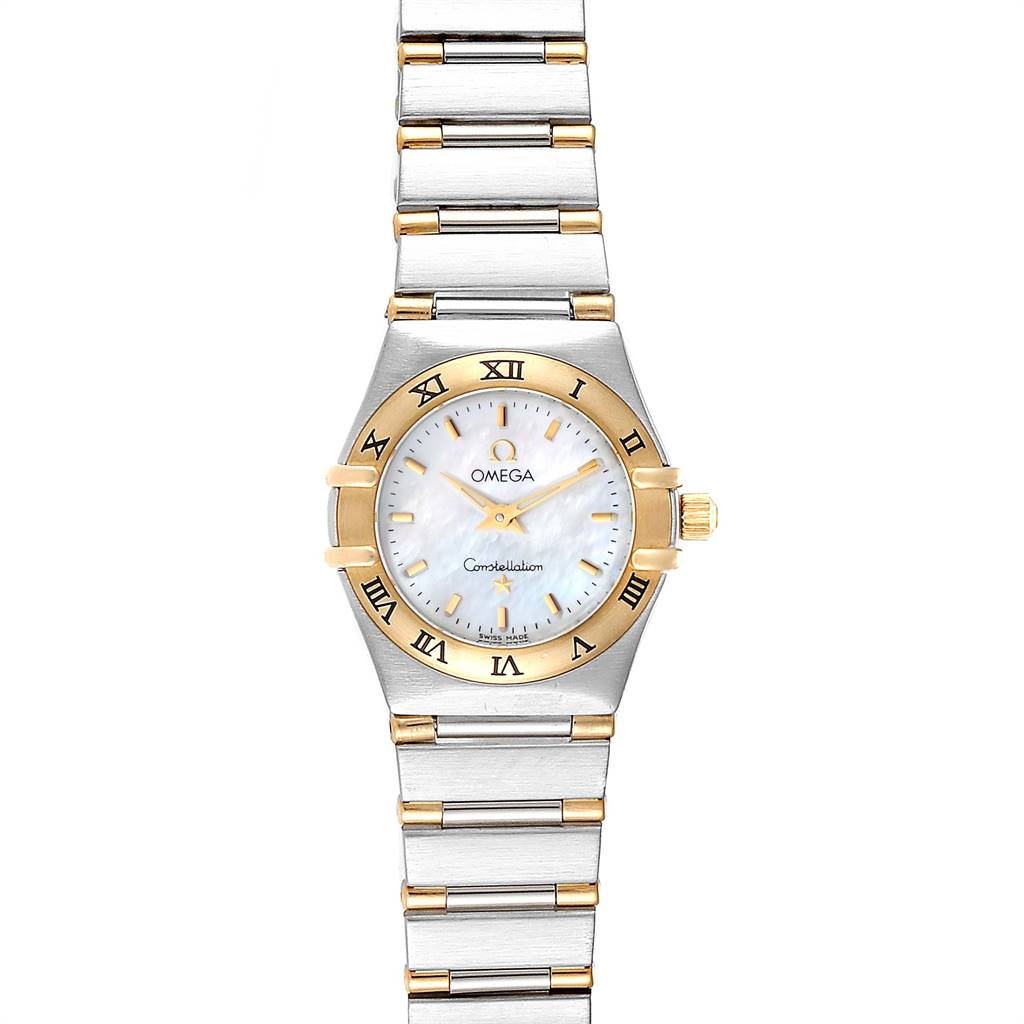 Photo of Omega Constellation Steel Yellow Gold Mother of Pearl Ladies Watch