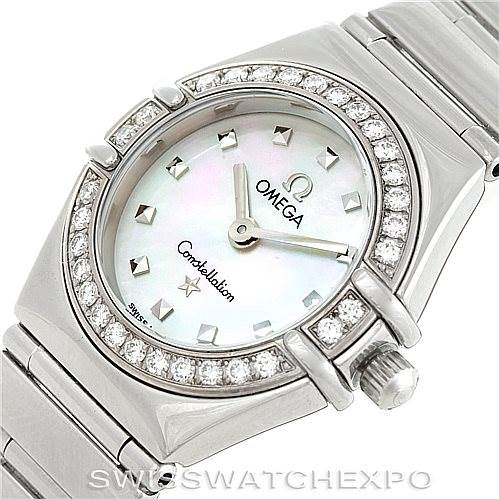 6833 Omega Constellation My Choice Ladies Mini Watch 1465.71.00 SwissWatchExpo