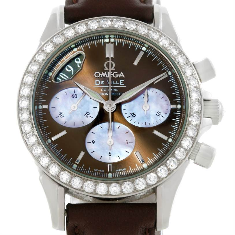 9317 Omega DeVille Co-Axial 1.61CT Diamond Ladies Watch 4877.60.37 SwissWatchExpo
