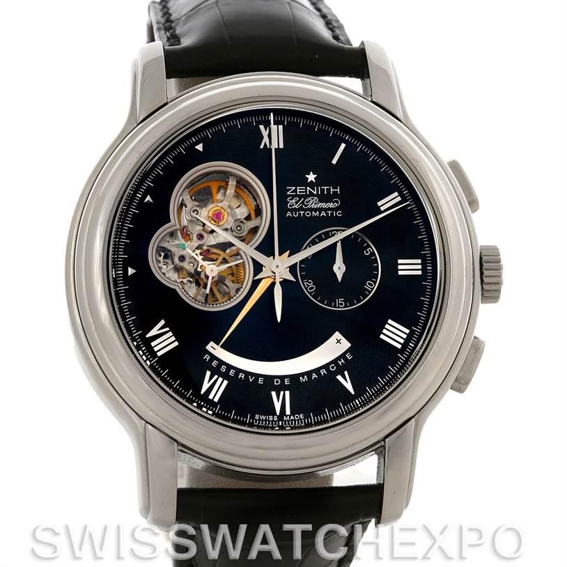 3068 Zenith 03.1260.4021/21.C505 Chronomaster XXT Open NOS SwissWatchExpo