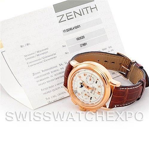 5534 Zenith El Primero Chronomaster T Rose Gold Watch 17.0240.410/01 SwissWatchExpo