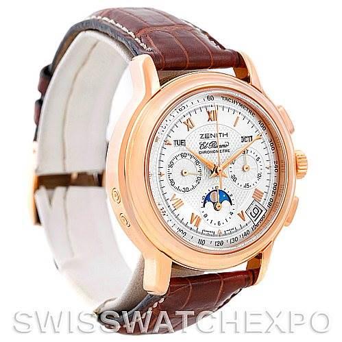 Zenith El Primero Chronomaster T Rose Gold Watch 17.0240.410/01 SwissWatchExpo