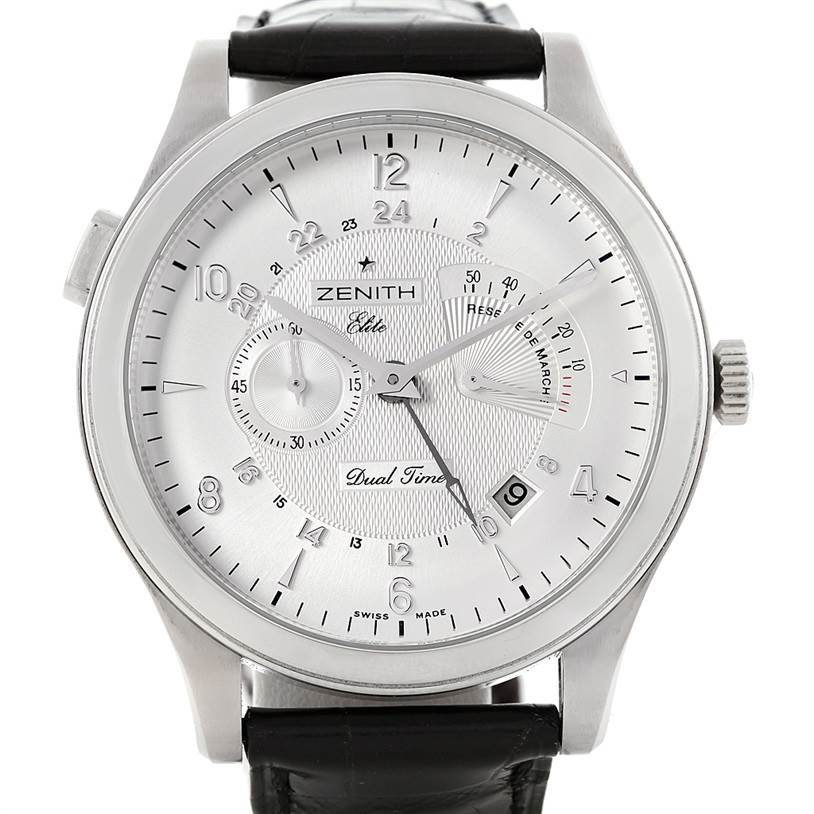 7194 Zenith Grande Class Reserve De Marche Dual Time Watch 03.0520.683/01.C492 SwissWatchExpo