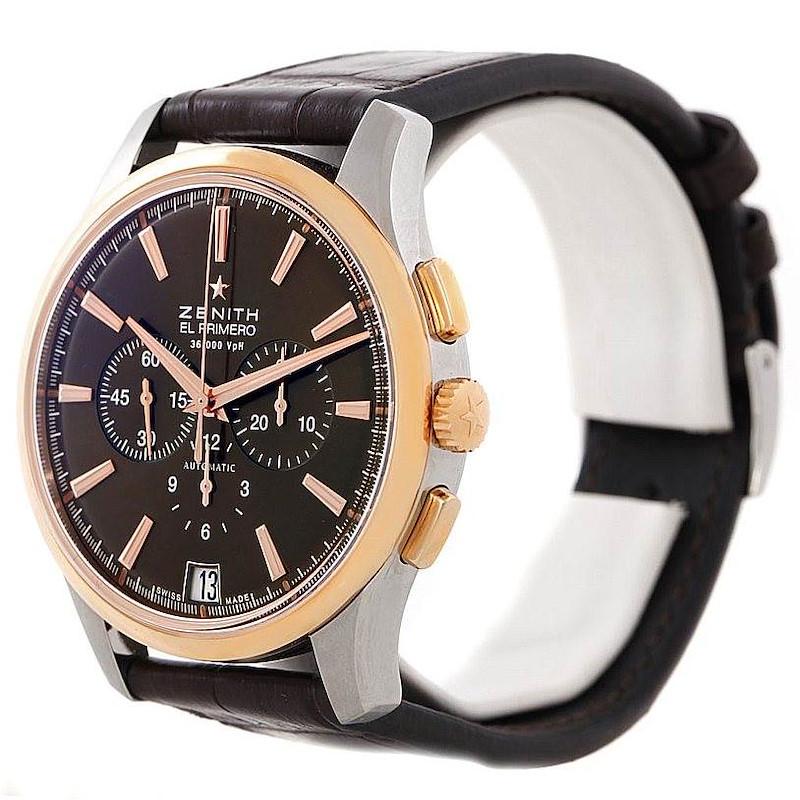 Zenith El Primero Captain Steel Rose Gold Watch 51.2112.400 SwissWatchExpo
