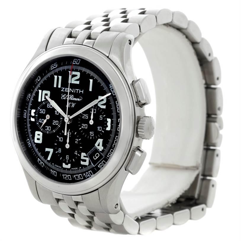 8467 Zenith El Primero Stainless Steel Mens Watch 02-05004-20 SwissWatchExpo