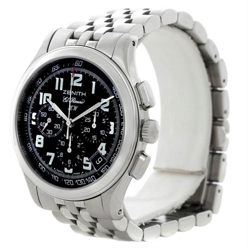 Zenith El Primero Stainless Steel Mens Watch 02-05004-20 SwissWatchExpo
