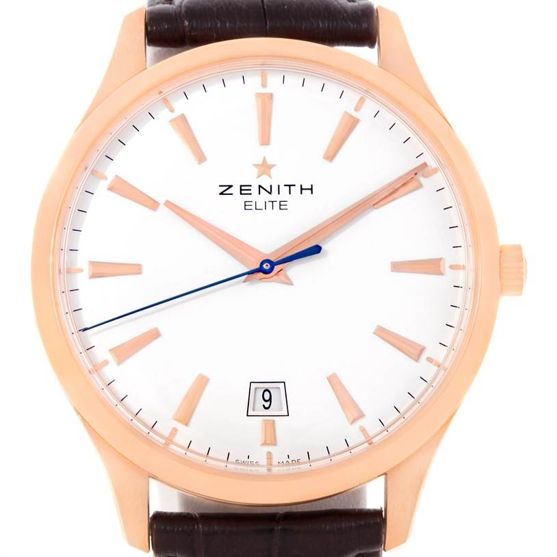 9297 Zenith Captain Central Second 18K Rose Gold Watch 18.2020.670 Box Papers SwissWatchExpo