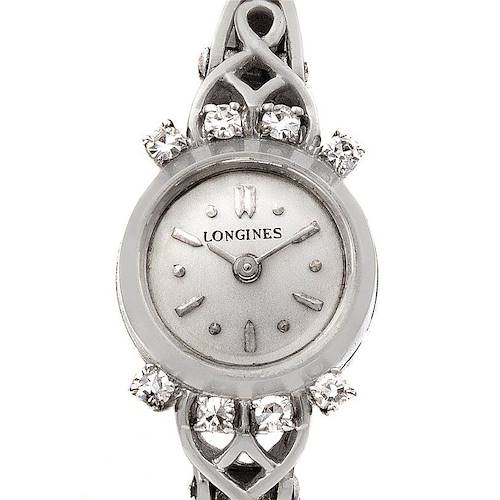 Photo of Longines Vintage Ladies 14k w Gold Diamonds Watch