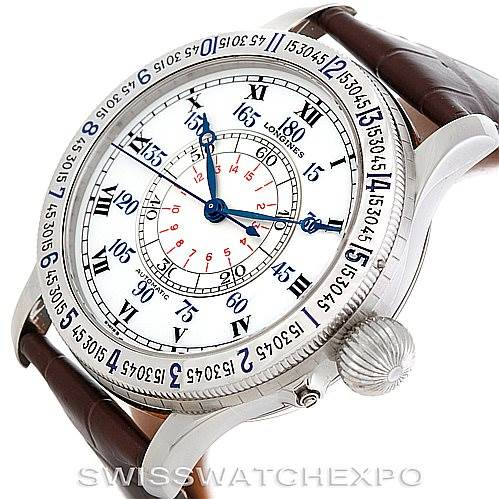 6310 Longines Heritage Lindberg Hour Angle Mens Watch L2.678.4.11.0 SwissWatchExpo