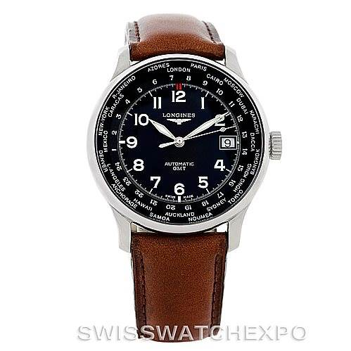 7100 Longines Master Automatic GMT Mens Watch L2.631.4 SwissWatchExpo