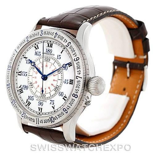 Longines Heritage Lindbergh Hour Angle Watch L2.678.4.11.0 SwissWatchExpo