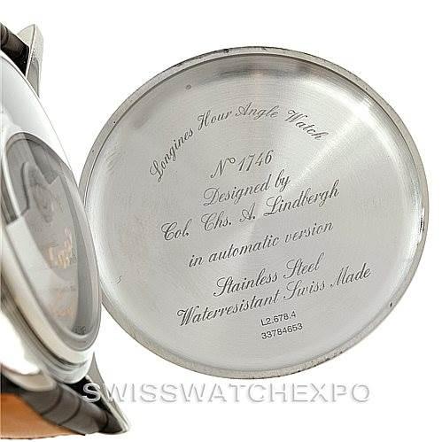 8049 Longines Heritage Lindbergh Hour Angle Watch L2.678.4.11.0 SwissWatchExpo