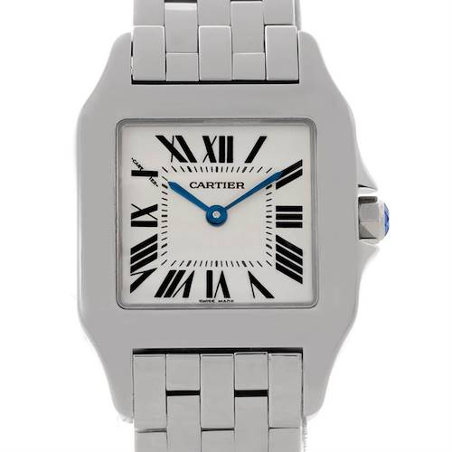 Photo of Cartier Santos Demoiselle Steel Silver Dial Midsize Watch W25065Z5