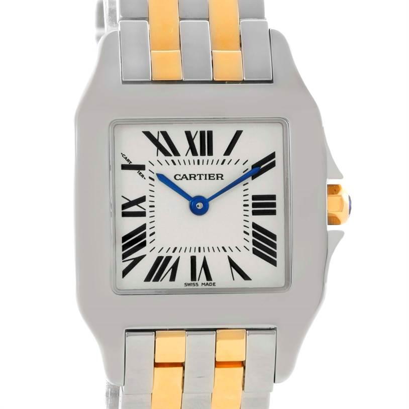 10451 Cartier Santos Demoiselle Steel 18K Yellow Gold Midsize Watch W25067Z6 SwissWatchExpo