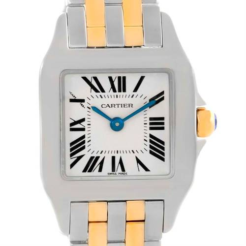 Photo of Cartier Santos Demoiselle Steel Yellow Gold Small Watch W25066Z6