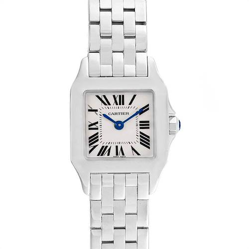 Photo of Cartier Santos Demoiselle Steel Silver Dial Small Watch W25064Z5