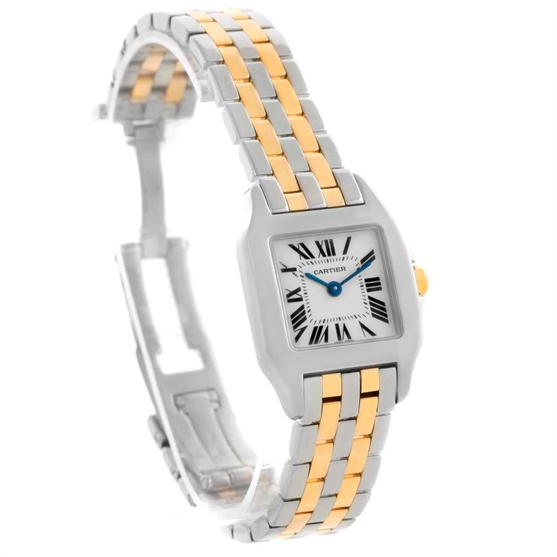 10561 Cartier Santos Demoiselle Steel Yellow Gold Watch W25066Z6 Box Papers SwissWatchExpo