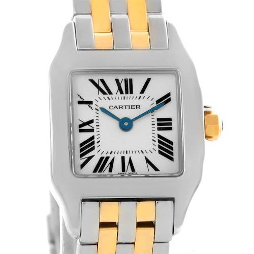Photo of Cartier Santos Demoiselle Steel Yellow Gold Watch W25066Z6 Box Papers