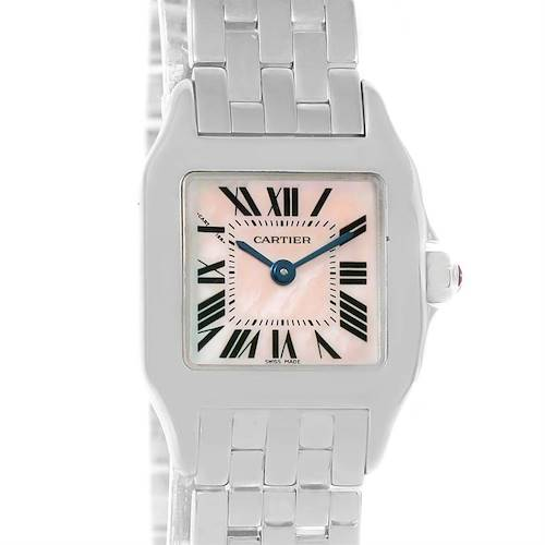 Photo of Cartier Santos Demoiselle Mother Of Pearl Watch W25075Z5 Box Papers