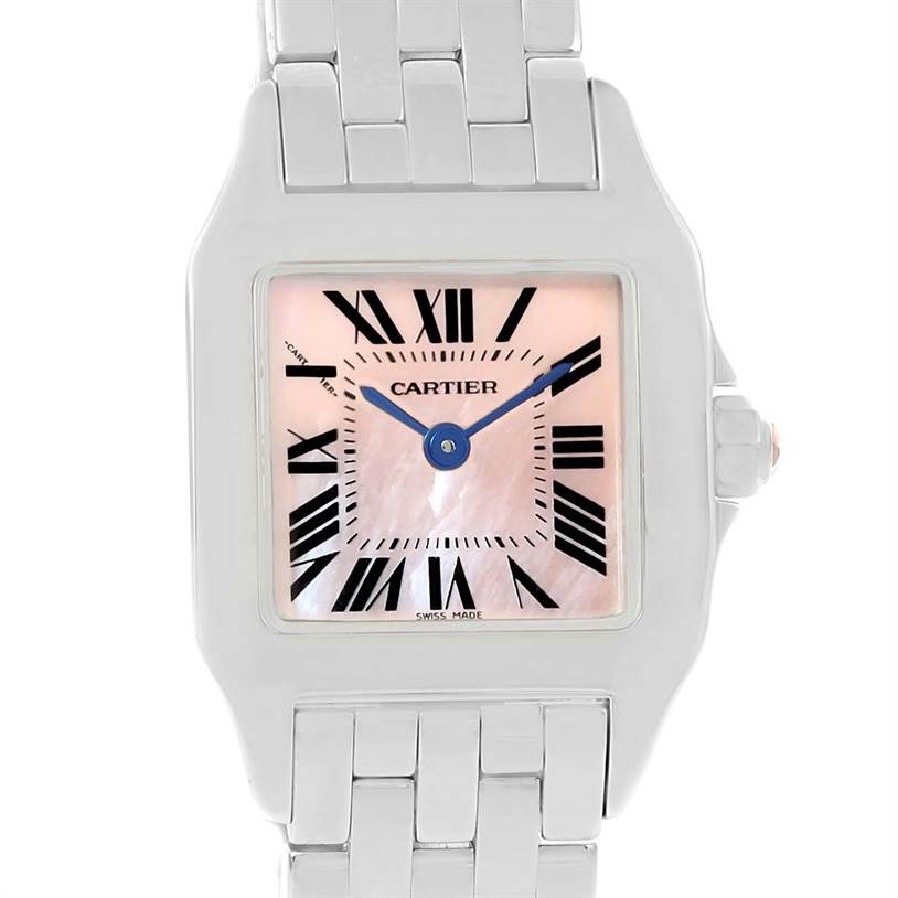 12980 Cartier Santos Demoiselle Mother Of Pearl Dial Ladies Watch W25075Z5 SwissWatchExpo