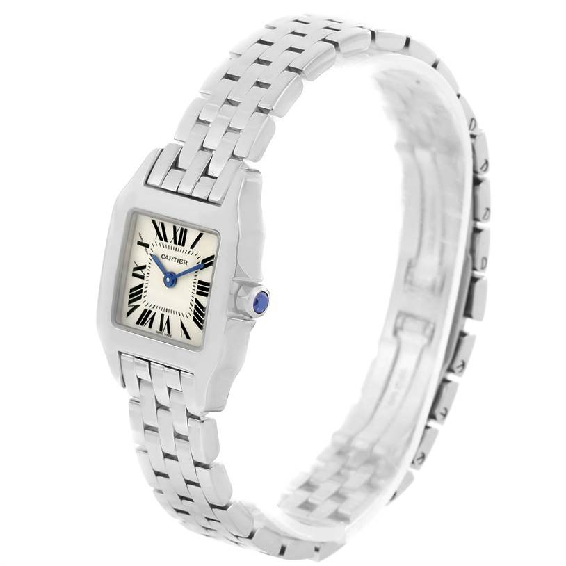 12170 Cartier Santos Demoiselle Stainless Steel Ladies Watch W25064Z5 SwissWatchExpo
