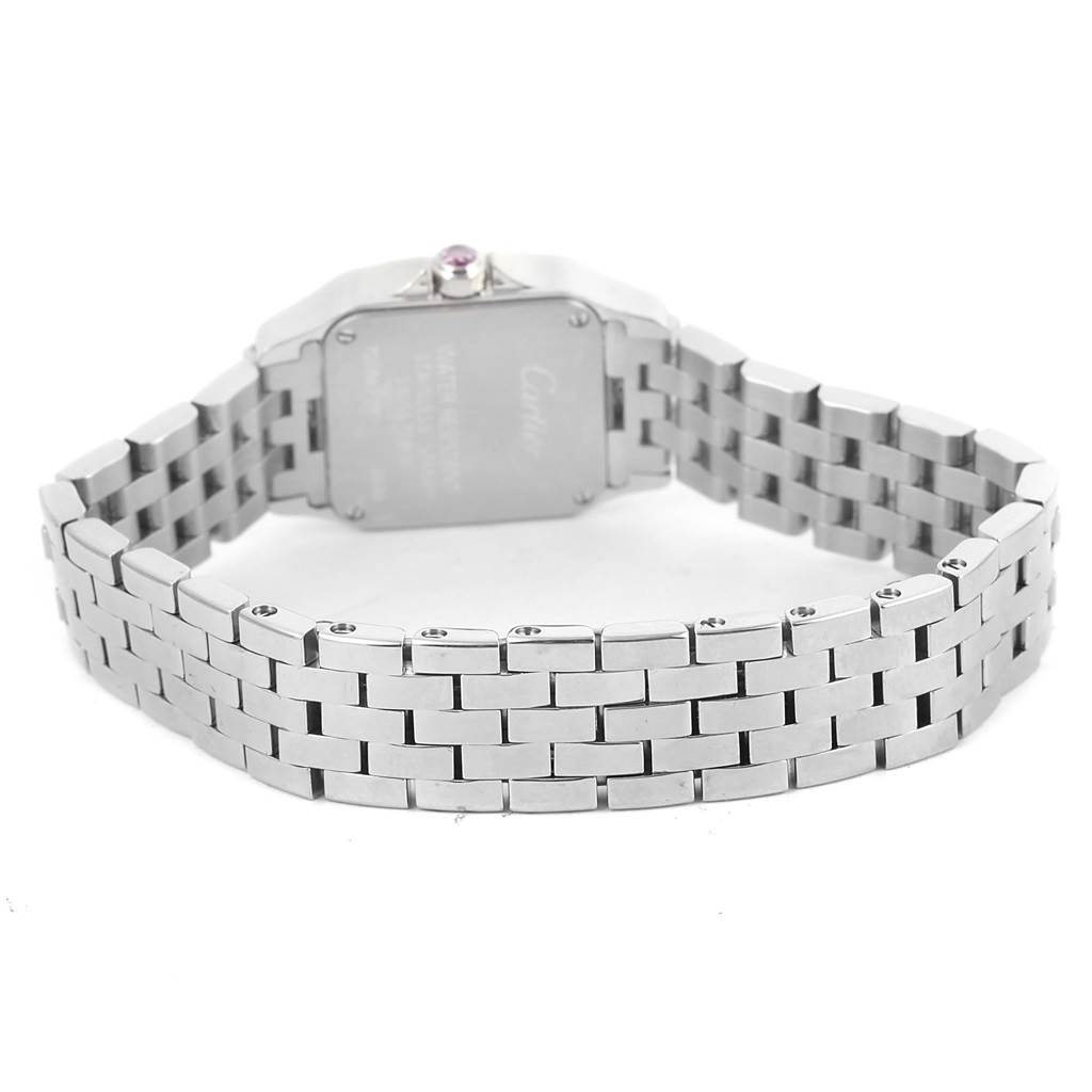 13377 Cartier Santos Demoiselle Pink MOP Dial Steel Ladies Watch W25075Z5 SwissWatchExpo