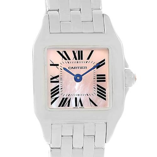 Photo of Cartier Santos Demoiselle Pink MOP Dial Steel Ladies Watch W25075Z5