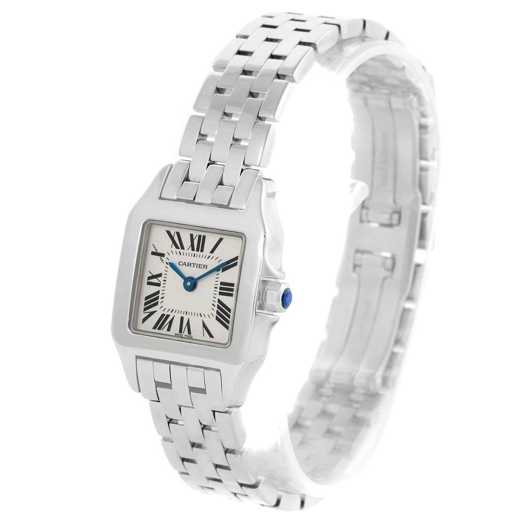 13505 Cartier Santos Demoiselle Steel Ladies Watch W25064Z5 Box Papers SwissWatchExpo