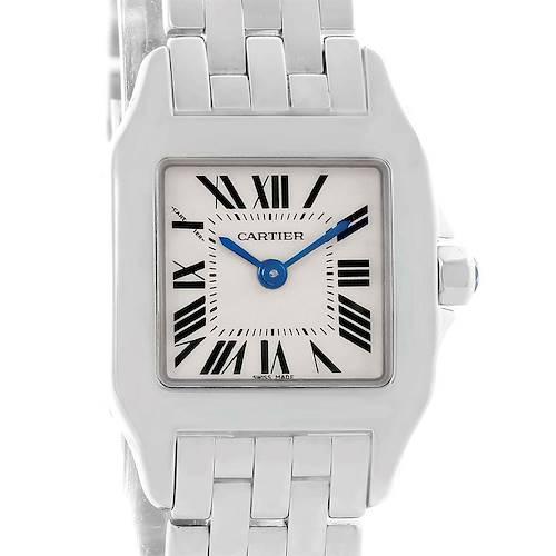 Photo of Cartier Santos Demoiselle Steel Ladies Watch W25064Z5 Box Papers