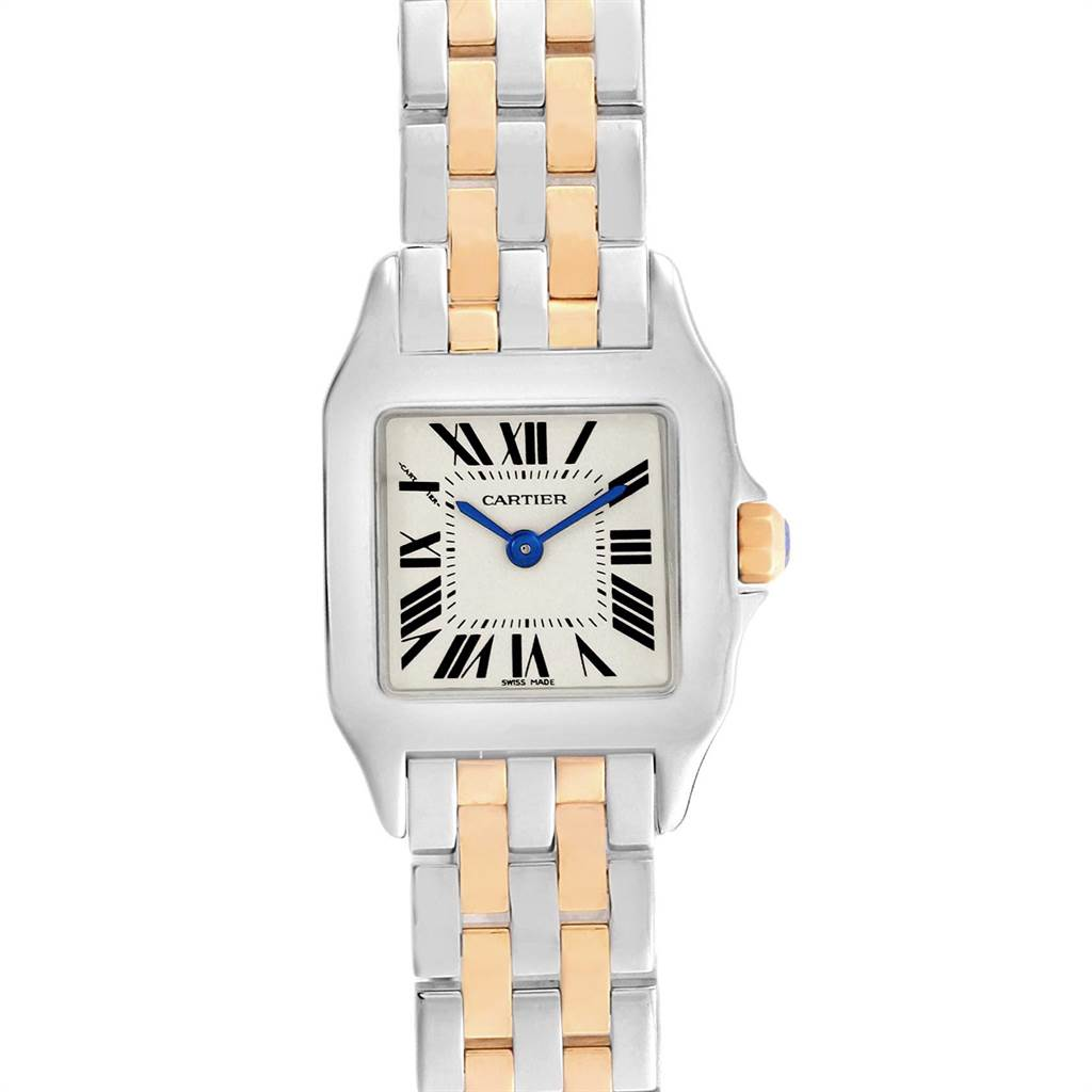 12171 Cartier Santos Demoiselle Steel Yellow Gold Ladies Watch W25066Z6 SwissWatchExpo